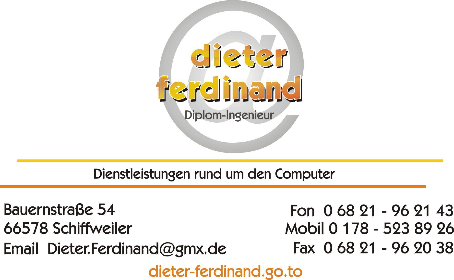 Visitenkarte Dieter Ferdinand